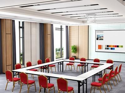 教育机构培训桌椅组合双人折叠长条
